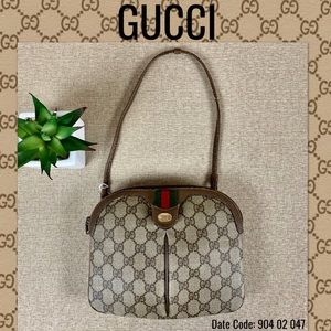 Gucci Shoulder Bag Sherry Brown PVC